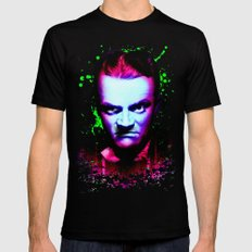 James Cagney, angry 2X-LARGE Mens Fitted Tee Black