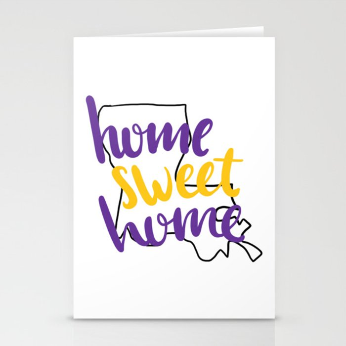 Home Sweet Home LSU Stationery Cards