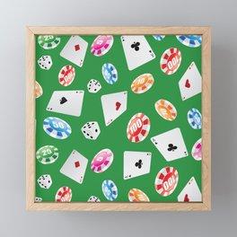 #casino #games #accessories #pattern 4 Framed Mini Art Print