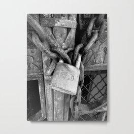 Locked B&W Metal Print
