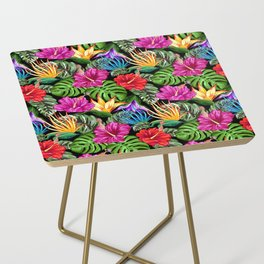 Tropical Flora Summer Mood Pattern Side Table