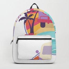 Peace Love Van Beach Theme Backpack