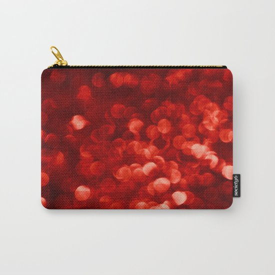 Red Bokeh Sparkle Carry-All Pouch