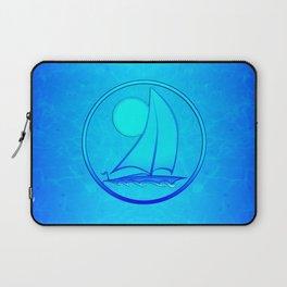 Ocean Blue Sailboat Laptop Sleeve