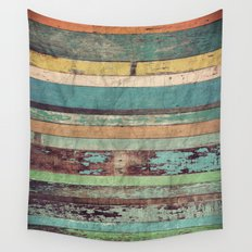 Wooden Vintage  Wall Tapestry