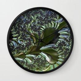 Sea Flora Fractal Wall Clock