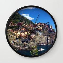 Manarola Cinque Terre Italy Wall Clock