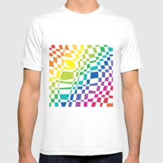 colorfull SMALL White Mens Fitted Tee