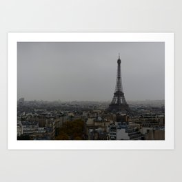 Gloomy Paris Art Print