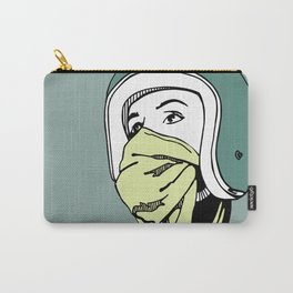Green Scarf Carry-All Pouch