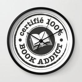 Certifié 100% Book Addict Wall Clock