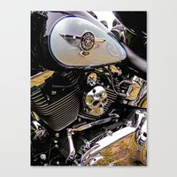 motorbike Canvas Prints featuring  Motorbike  by Scenic View Photography