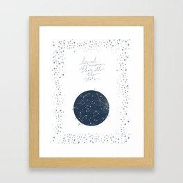 more than all the stars Framed Art Print