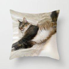 Cat Dreaming Throw Pillow