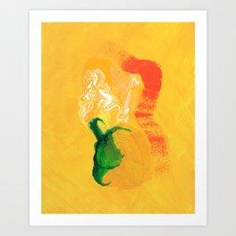 Portrait in Yellow  Art Print
