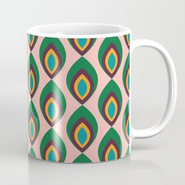 Peacock feather pink #homedecor #midcenturydecor Coffee Mug