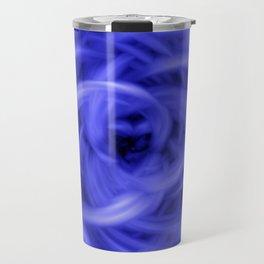 Background Flames Blue Travel Mug