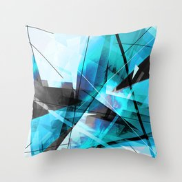 Shiver - Geometric Abstract Art Throw Pillow