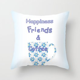 Friends And Coffee Throw Pillow