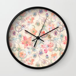 Floral abstract. Wall Clock
