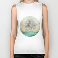 cherry blossom Biker Tanks featuring Cherry Blossom  by aRTsKRATCHES