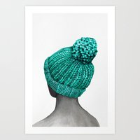 hat Art Prints featuring Hat by Nika Akin