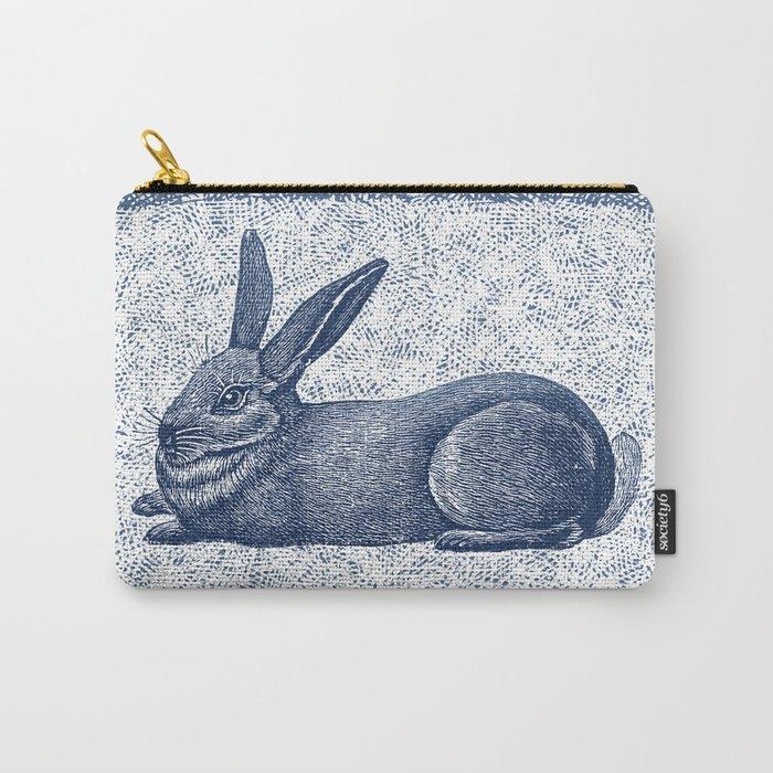 Rabbit print, Vintage Rabbit, Animal Wall Art Carry-All Pouch