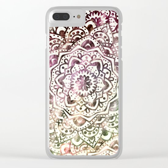 STARRY DAY MANDALA Clear iPhone Case