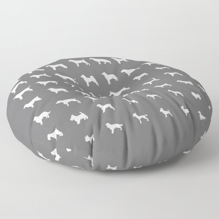 All Dogs (Grey/White) Floor Pillow