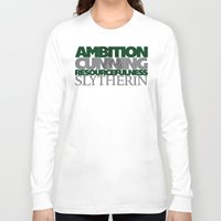 slytherin Long Sleeve T-shirts featuring Slytherin by Fanboy's Canvas