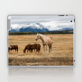 Mountain Horse - Western Style in the Grand Tetons Laptop & iPad Skin