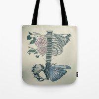 skeleton Tote Bags featuring Skeleton by ArtSchool