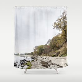 Along The Cliff On Baltic Sea Shower Curtain