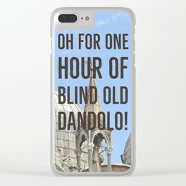 Blind old Dandolo (dark) Clear iPhone Case