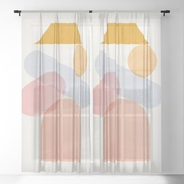 Abstraction_Home_Sweet_Home Sheer Curtain