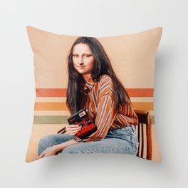RETRO MONA Throw Pillow