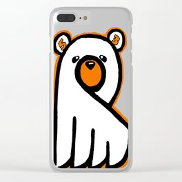 Ghost Bear IV Clear iPhone Case