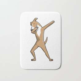Funny Dabbing Greyhound Dog Dab Dance Bath Mat