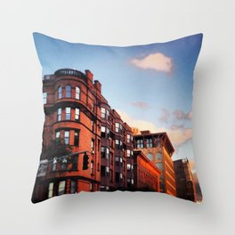 Boston Brownstones in Back Bay Throw Pillow