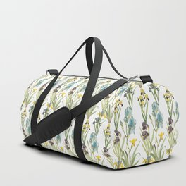 Vintage Floral Pattern | No. 2B | Iris Flowers | Irises Duffle Bag