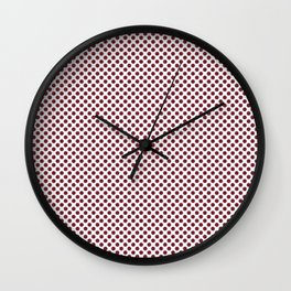 Biking Red Polka Dots Wall Clock