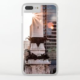 Buildings in Indy Clear iPhone Case