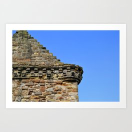 Edinburgh Castle & Sky Art Print