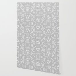 Thistles on Grey Wallpaper