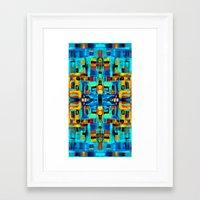 mosaic Framed Art Prints featuring Mosaic by Tharika Fuhrer