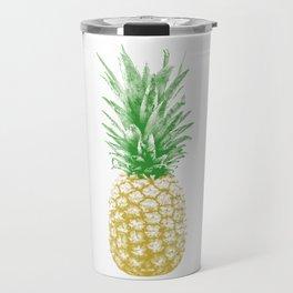 Vintage Retro Pineapple Halftone Travel Mug