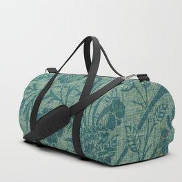 art Nouveau,teal,William Morris style, floral,chic,elegant,modern,trending,victorian decor,floral pa Duffle Bag