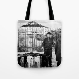 Man and Mountain Tote Bag