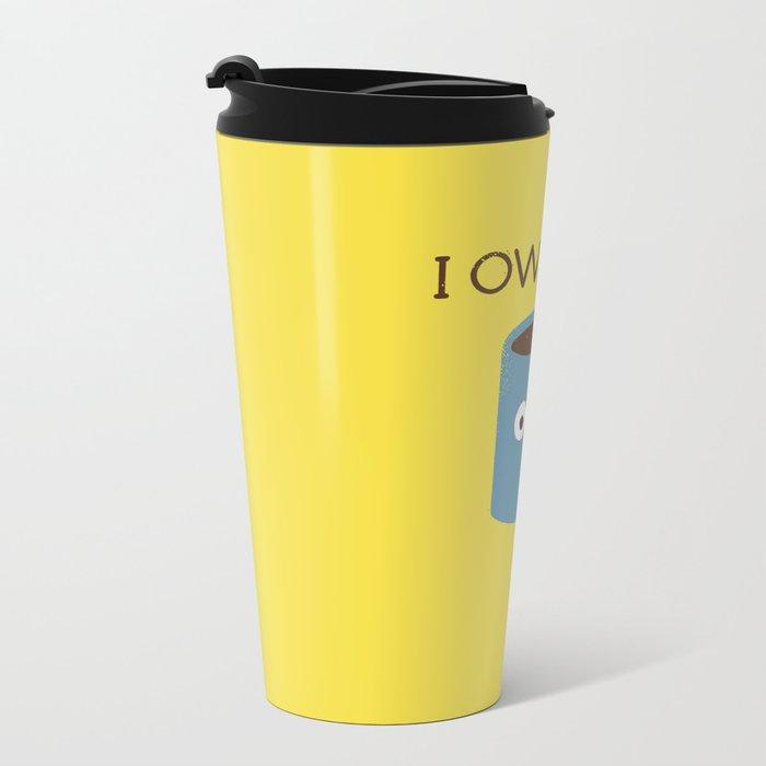 Coffee Talk Metal Travel Mug