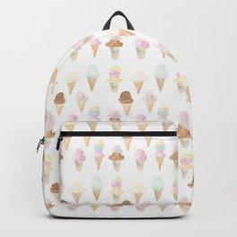 Watercolor Ice Cream Cones Backpack